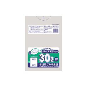 生活用品・インテリア・雑貨 (まとめ)容量表示入りポリ袋 30L 10枚入×60パック