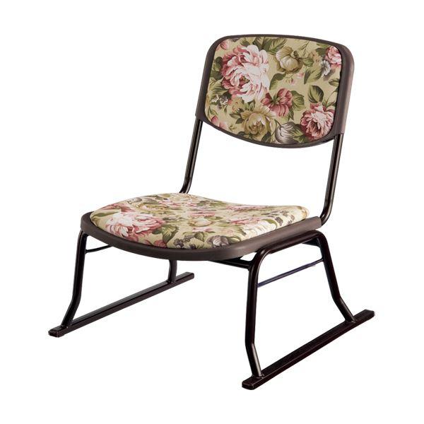 生活用品・インテリア・雑貨 楽座椅子4点セット 花柄