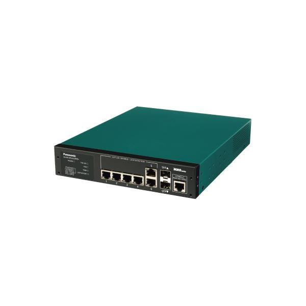 パソコン・周辺機器 パナソニックESネットワークス PoE Plus対応/6ポートL2スイッチングハブSwitch-M5eGLPWR+ PN28058