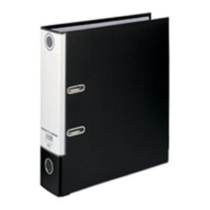 ファイル・バインダー クリアケース・クリアファイル 関連 便利 日用品 (まとめ買い)レバー式アーチファイル SGLAF8 A4S 80mm黒 【×10セット】