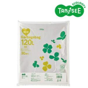 日用品・生活雑貨 袋 関連 (まとめ)TANOSEE ポリエチレン収集袋 透明 120L 30枚入×6パック