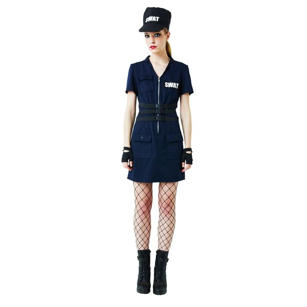 コスプレ 日用品雑貨 便利グッズ 【ハロウィンコスプレ】SWAT Ladies