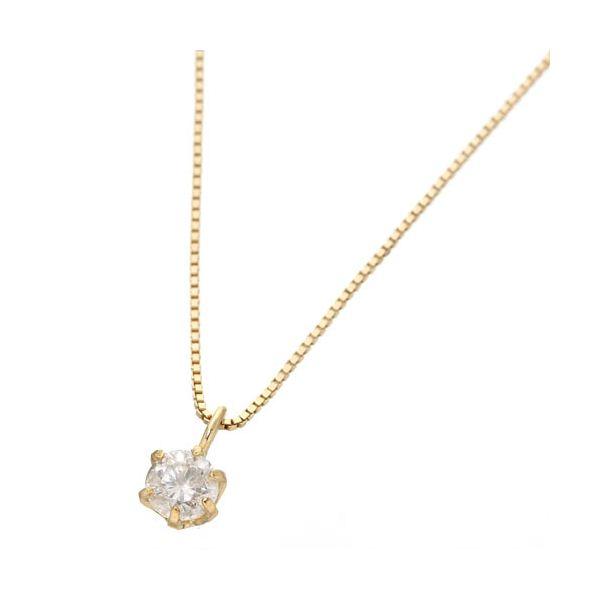 0.1ctダイヤモンドペンダント(ベネチアンチェーン) 18Kイエローゴ-ルド