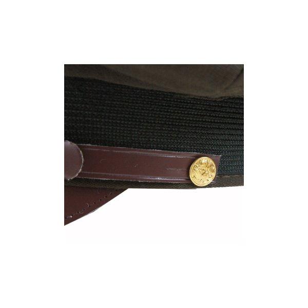 ミリタリーUSタイプオフィサーキャップHC031YNカーキ71/4(約58cm)【レプリカ】
