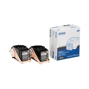 パソコン・周辺機器 関連 エプソン(EPSON) LP-S7100用 環境推進トナー/ブラック/Mサイズ2個パック(5500ページ×2) LPC3T18KPV