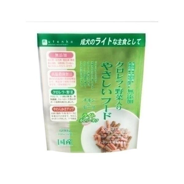 ペッツルート クロレラ野菜入りやさしいフードライト600g 【ペット用品】