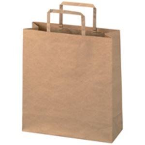 文具・オフィス用品関連商品 手提袋 平紐 茶 小 300枚 B291J-B6
