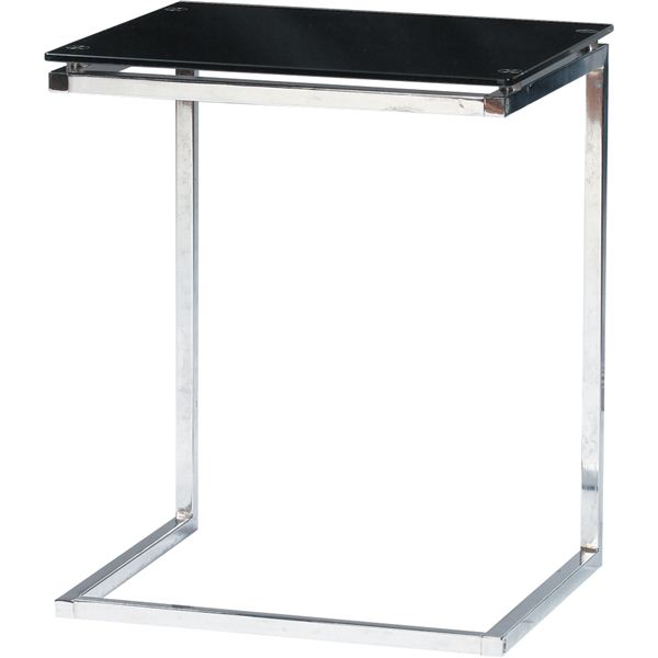 インテリア・家具 ガラス製サイドテーブル PT-15BK