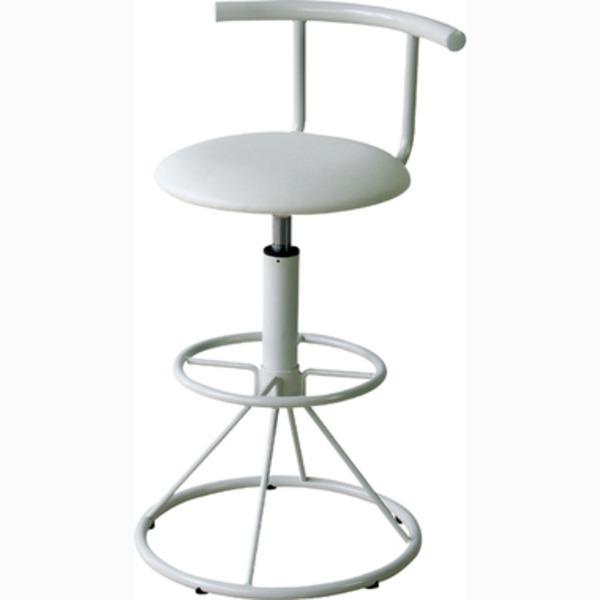 ハイチェア キリク ホワイト PC-105WH【カウンターチェア/椅子/回転椅子】