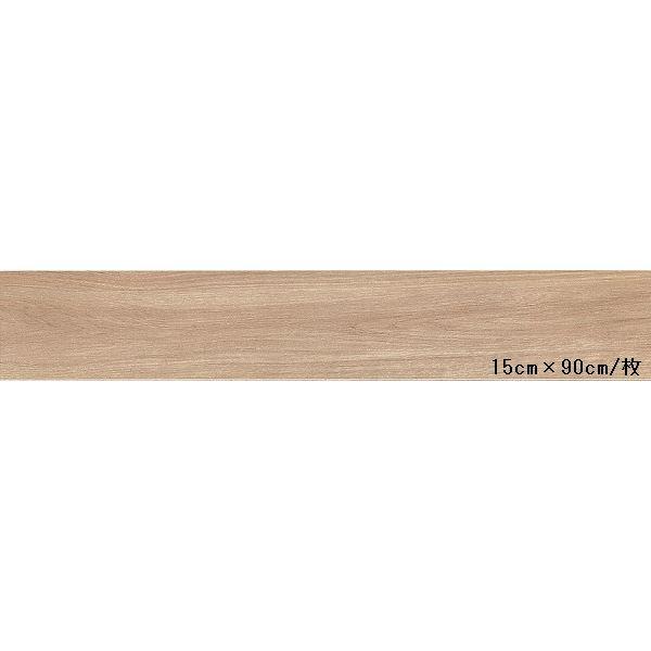 インテリア・寝具・収納 関連 東リ ビニル床タイル ロイヤルウッド 木目調 15cm×90cm (四面R面取) 色 PWT514 シャイニングオーク 20枚セット【日本製】