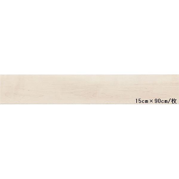 インテリア・寝具・収納 関連 東リ ビニル床タイル ロイヤルウッド 木目調 15cm×90cm (四面R面取) 色 PWT523 ナチュラルメイプル 20枚セット【日本製】