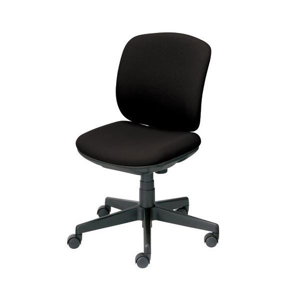 オフィス家具 オフィスチェア 高機能チェア 関連 プラス 事務イス(オフィスチェア/OAチェア) プリセア KC-K56SL 肘なし BK