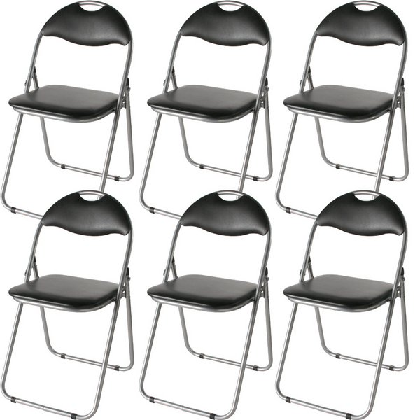 パイプ椅子 会議用椅子 ミーティングチェアIK-0102 【6脚入り/1セット】