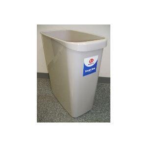 インテリア 寝具 収納 ゴミ箱 日用雑貨 ゴミ箱 関連 掃除用品 ゴミ箱 事務用品 業務用お得セット (まとめ買い)ジョインテックス 持ち手付きゴミ箱角型18L グレー N156J-G 【×30セット】