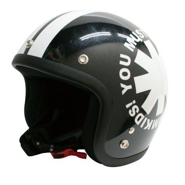 ダムトラックス(DAMMTRAX) Jrサイズヘルメット ポポウィール ブラック (54cm~57cm未満)