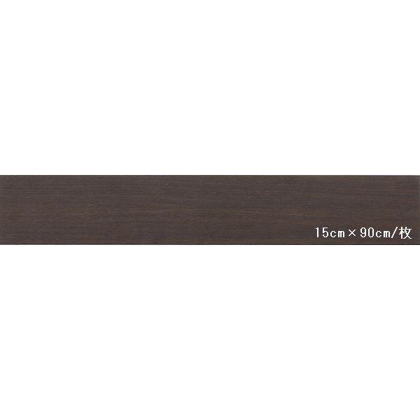 インテリア・寝具・収納 関連 東リ ビニル床タイル ロイヤルウッド 木目調 15cm×90cm (四面R面取) 色 PWT541 ビガーウォールナット 20枚セット【日本製】