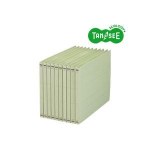 生活日用品 雑貨 (まとめ買い)フラットファイル バインダー (NS) A4ヨコ 150枚収容 緑 10冊入×10パック