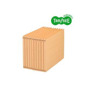 生活日用品 雑貨 (まとめ買い)フラットファイル バインダー (NS) A4ヨコ 150枚収容 黄 10冊入×10パック