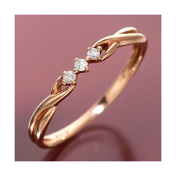 K10/PG ツイストダイヤリング 指輪 184275 15号