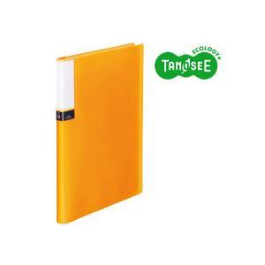 文具・オフィス用品 (まとめ)TANOSEE クリアブック(透明表紙) A4タテ 24ポケット オレンジ 40冊