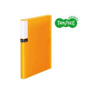 文房具・事務用品 ファイル・バインダー 関連 (まとめ)TANOSEE クリアブック(透明表紙) A4タテ 36ポケット オレンジ 30冊