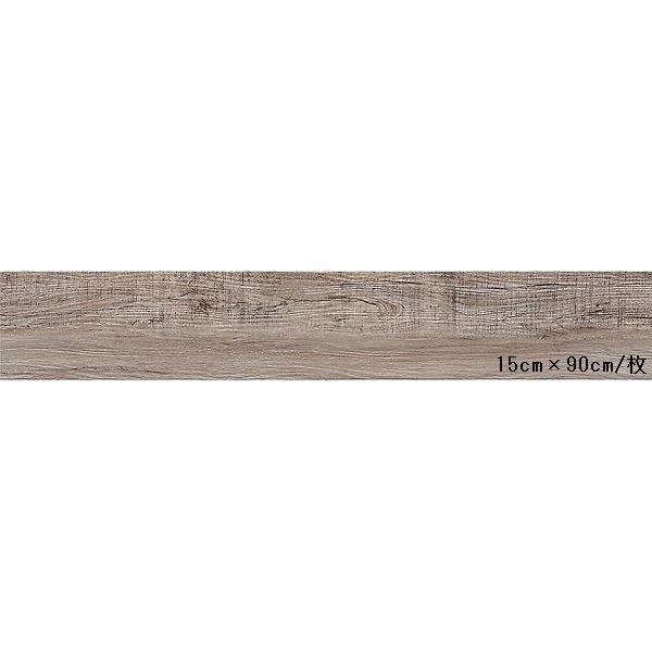 インテリア・寝具・収納 関連 東リ ビニル床タイル ロイヤルウッド 木目調 15cm×90cm (四面R面取) 色 PWT616 ヴィンテージファー 20枚セット【日本製】