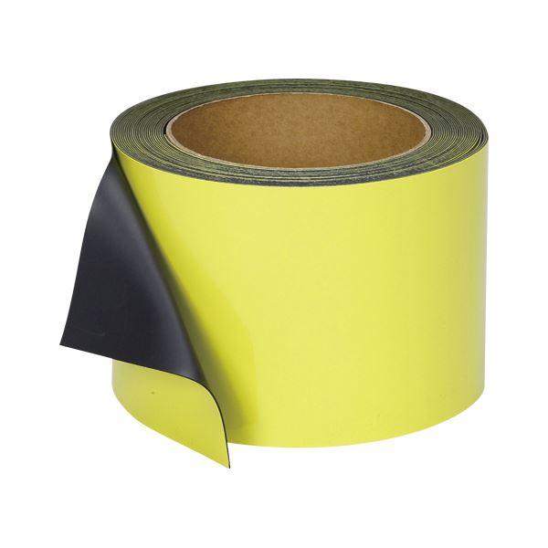 文具・オフィス用品 マグエックス マグネットロール カラー ツヤ有りタイプ MSGR-08-100-10-Y 黄 1巻