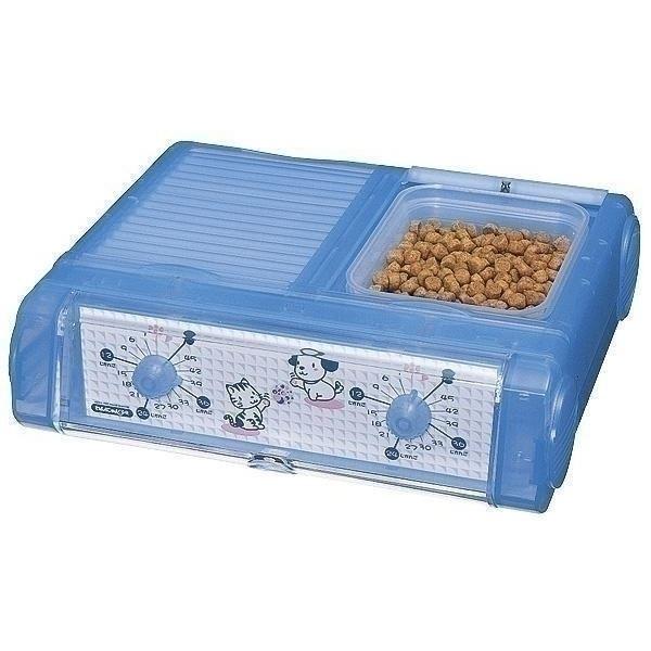 ホビー・エトセトラ 山佐時計計器 ペット自動給餌器 わんにゃんぐるめ クリアブルー CD-400(CBL)【ペット用品】