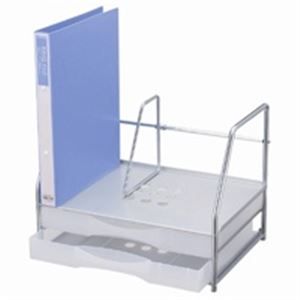 インテリア・寝具・収納 オフィス家具 関連 プラス ブックスタンド付レターケースA4横LC-212BS