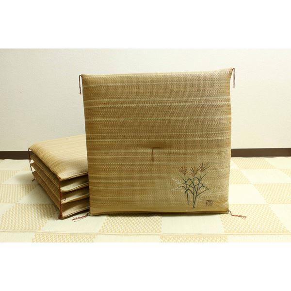 純国産 捺染返し い草座布団 『薄(すすき) 5枚組』 約55×55cm×5P