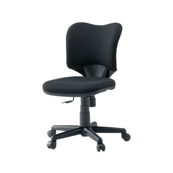 オフィス家具 オフィスチェア 高機能チェア 関連 プラス 事務イス(オフィスチェア/OAチェア) プロップ肘なし KC-A92SL BK