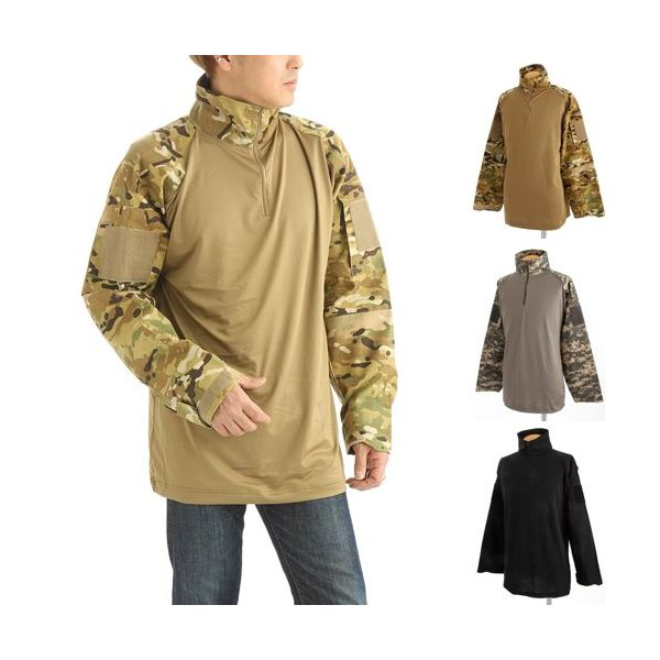 COMBAT ハーフジップシャツ ACU Mサイズ