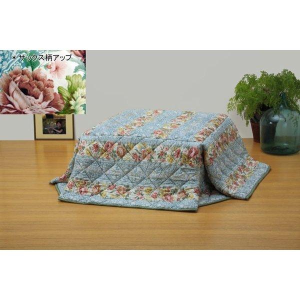 生活用品 雑貨 省スペースタイプ 軽くて暖か洗えるこたつ掛け布団 長方形(中) サックス