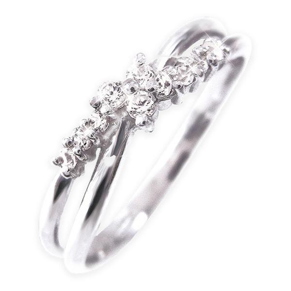 天然石 ダイヤモンド 関連 Pt100 ダイヤリング 指輪 17号
