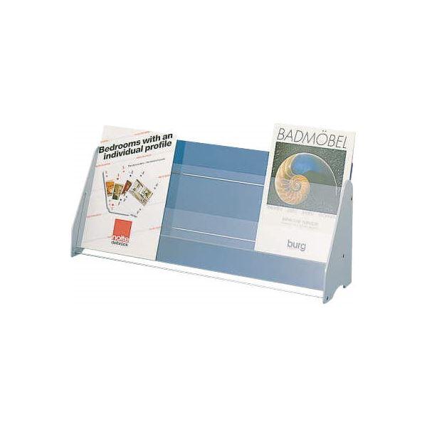 生活用品・インテリア・雑貨 卓上パンフレットスタンド A4判3列2段 W671×D170×H280mm No.320