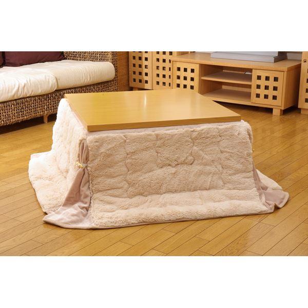 日用雑貨 便利 フィラメント素材 省スペース こたつ薄掛け布団単品 ベージュ 180×180cm