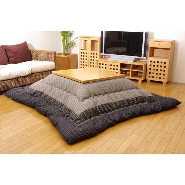 インテリア・家具 しじら こたつ厚掛け布団単品 『ゆかり』 ブラック 205×205cm
