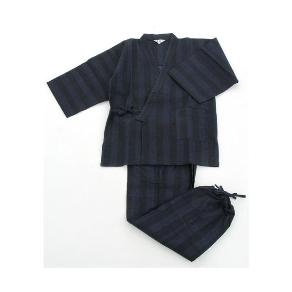 纏(まとい)織作務衣 141-1905 紺 Mサイズ