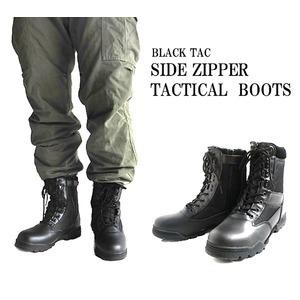 生活日用品 BLACK TAC( ブラックタック) タクティカルサイドジッパー付きブーツ FB4YN 10w(28.0cm)