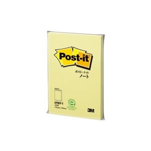 文房具・事務用品 紙製品・封筒 付箋紙 関連 (業務用10セット)ポストイット 再生紙ノート 659RP-Yイエロー