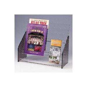 生活用品・インテリア・雑貨 クラウン パンフレット台 アクリル製 CR-PF233-T 1台