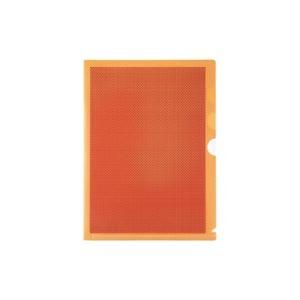 ファイル・バインダー クリアケース・クリアファイル 関連 生活日用品 雑貨 (まとめ買い)仕切付カモフラージュホルダー FL-131CH 橙 【×30セット】