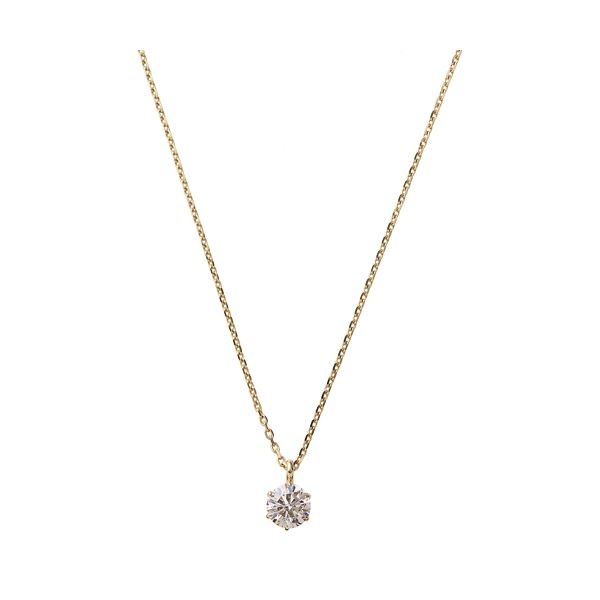 ネックレス・ペンダント K18ピンクゴールド 天然ダイヤモンドネックレス ダイヤ0.2CTネックレス