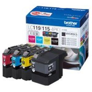 パソコン 4色・周辺機器 ブラザー工業(BROTHER) インクカートリッジ LC119/115-4PK 4色, 松井田町:4264a39f --- officewill.xsrv.jp