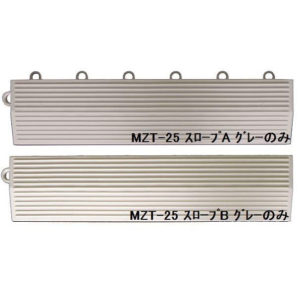 インテリア・寝具・収納 関連 水廻りフロアー タフチェッカー MZTF-25用 スロープセット セット内容 (本体 64枚セット用) スロープA16本・スロープB16本 計32本 【日本製】