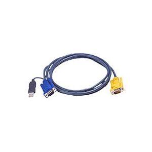 AV・デジモノ ATEN USB KVMケーブル SPHDタイプ 1.8m(PS/2 KVM用) 2L-5202UP