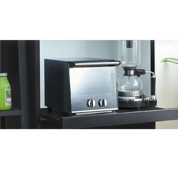 キッチン家電 ツインバード(TWINBIRD) スリムミラー ガラスオーブントースター TS-D037PB
