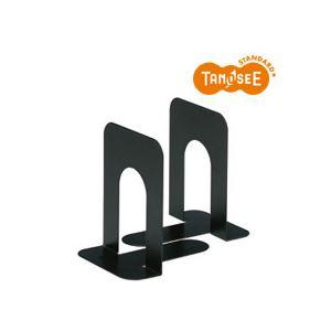 (まとめ)TANOSEE ブックエンド T型 中 ブラック 30組