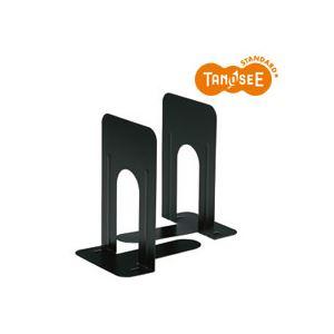 (まとめ)TANOSEE ブックエンド T型 特大 ブラック 20組