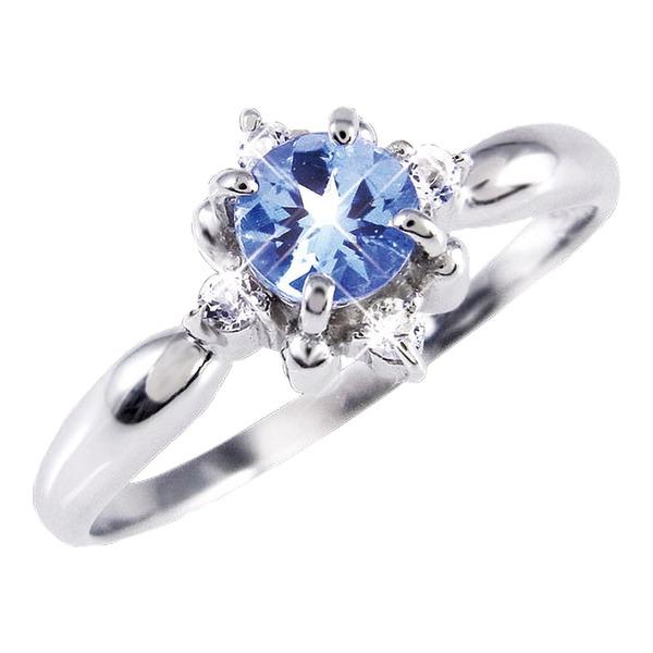天然石 ダイヤモンド 関連 タンザナイト&ダイヤリング 指輪 11号